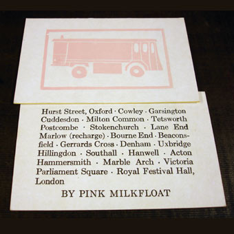 Pink Milkfloat commemorative card